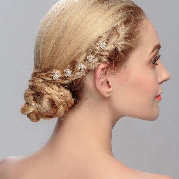 Damen Schöne Strass/Legierung Haarnadeln mit Strass (Satz 6)