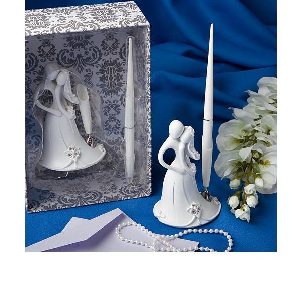 Sposo e della sposa di Disegno Resine Set di penne