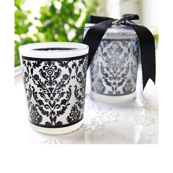 tappning utformar/Klassisk stil/Elegant Glas Ljusstake med Färgband (Säljs i en enda)