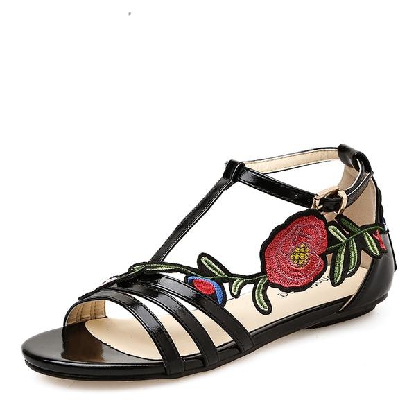 Donna Similpelle Senza tacco Sandalo Ballerine Punta aperta con Applicazione scarpe