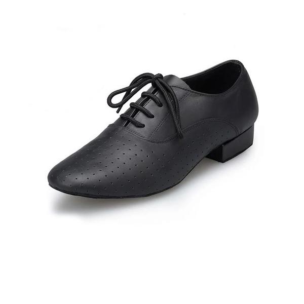 Hommes Vrai cuir Chaussures plates Latin Salle de bal Pratique Chaussures de Caractère Chaussures de danse