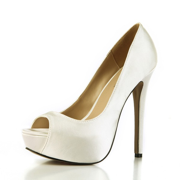 Mulheres Plástico Salto agulha Bombas Peep toe sapatos