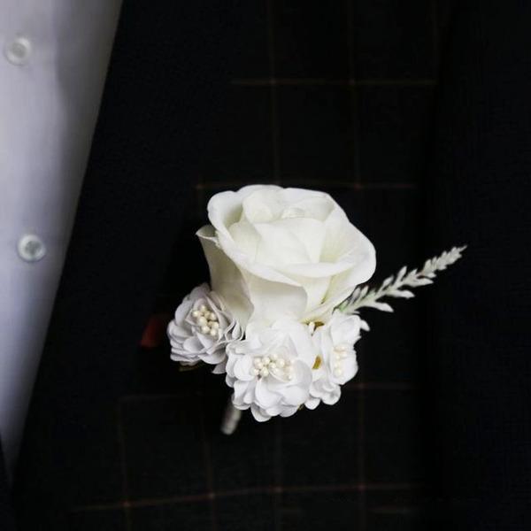 Klassische Art Freigeformt Stoff Blumen-Sets - Armbandblume/Knopflochblume