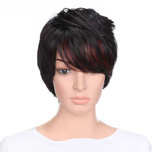 Straight Synthetic Hair Synthetic Wigs 130g