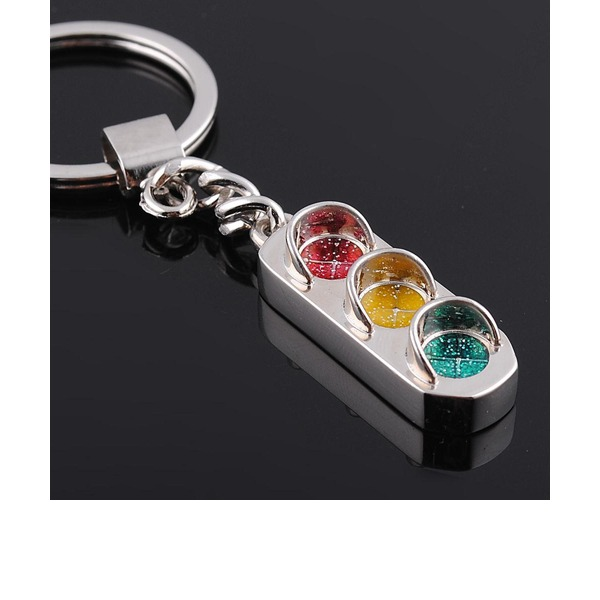 Cute Traffic Light Design Zinc alloy Keychains (Set of 4)