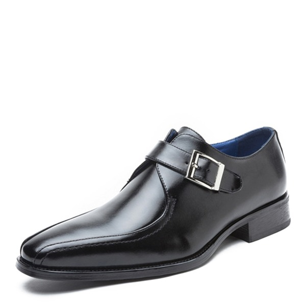 Men's Real Leather Monk-straps Casual Dress Shoes Men's Oxfords