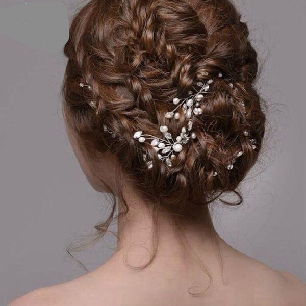 Dame Smukke Imiteret Pearl Hårnåle (Sæt af 2)