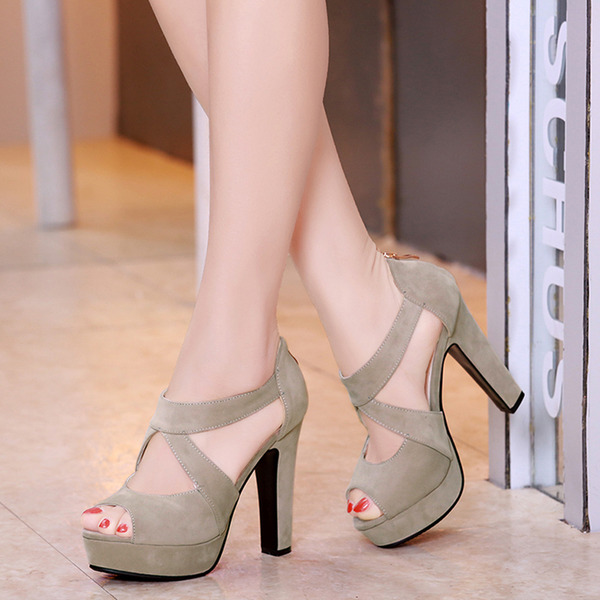 Mulheres Salto agulha Sandálias Plataforma Peep toe sapatos