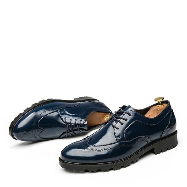 Erkek rugan Bağcıklı Brogue Elbise Ayakkabıları Erkek Oxford Ayakkabı