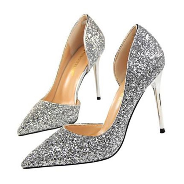 Dla kobiet Byszczący brokat Obcas Stiletto Sandały Czólenka Zakryte Palce obuwie