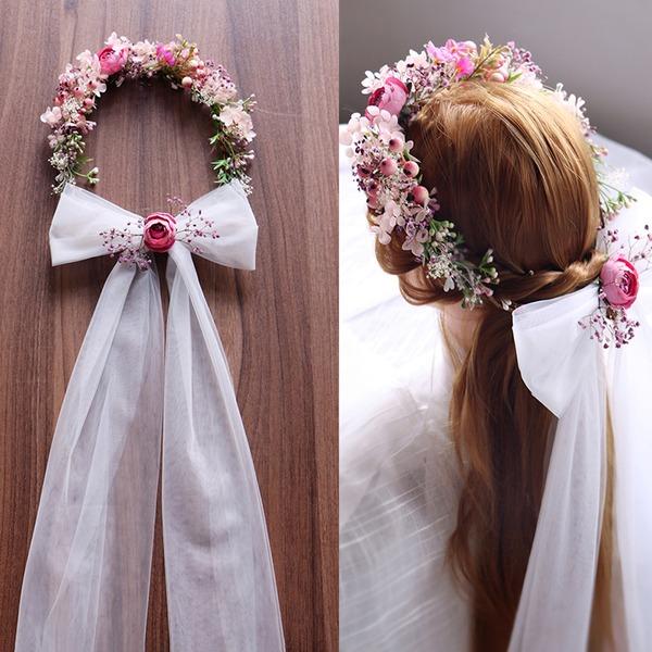 Dámy Speciální Silk Flower Čelenky