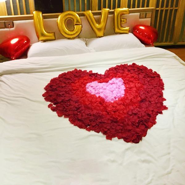 Artificial Rose Petal For Bed Decoration (Bag of 100)