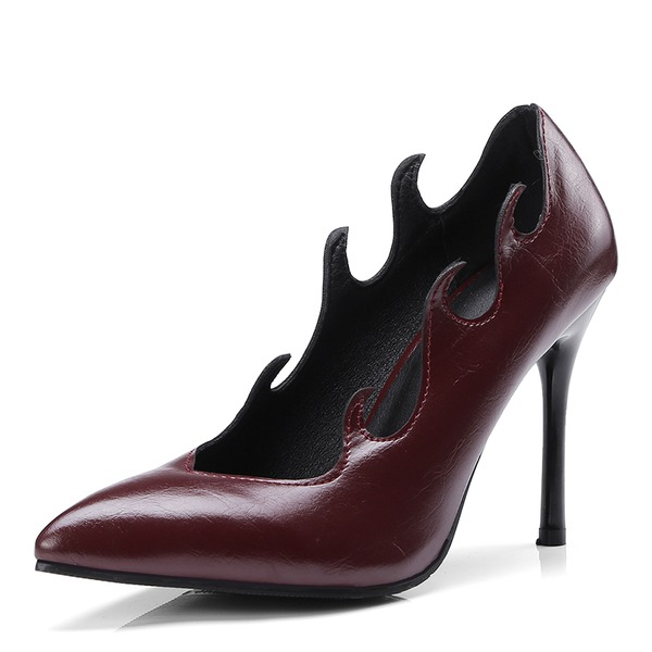 Kvinner Lær Stiletto Hæl Pumps sko