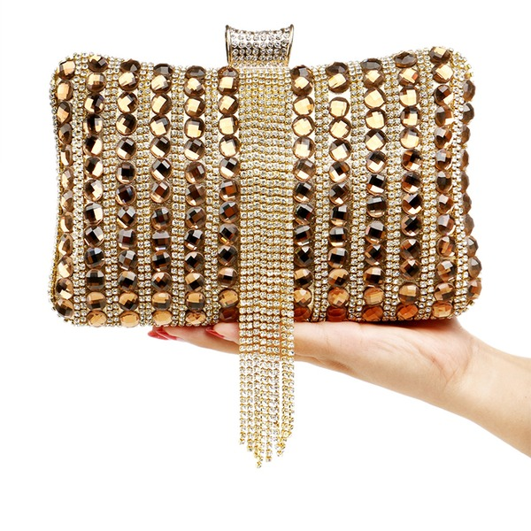 Elegant Crystal/ Rhinestone/Alloy Clutches
