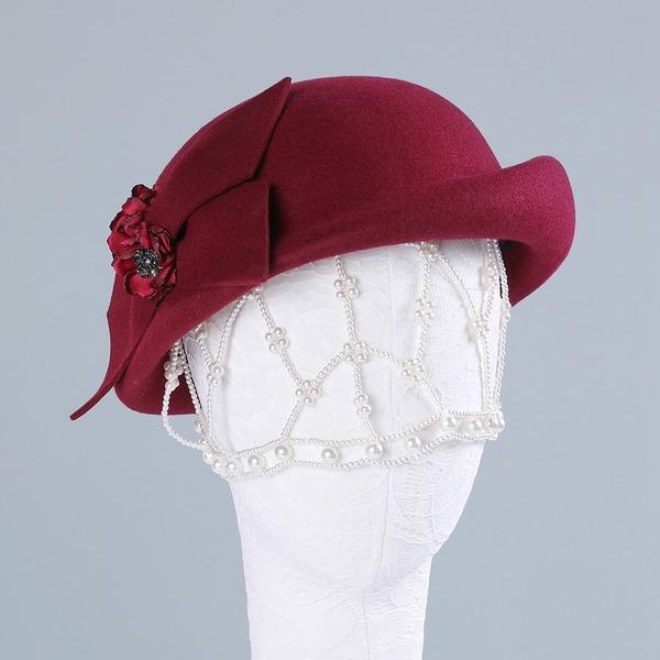 Señoras' Hermoso/Elegante/Simple Madera Disquete Sombrero