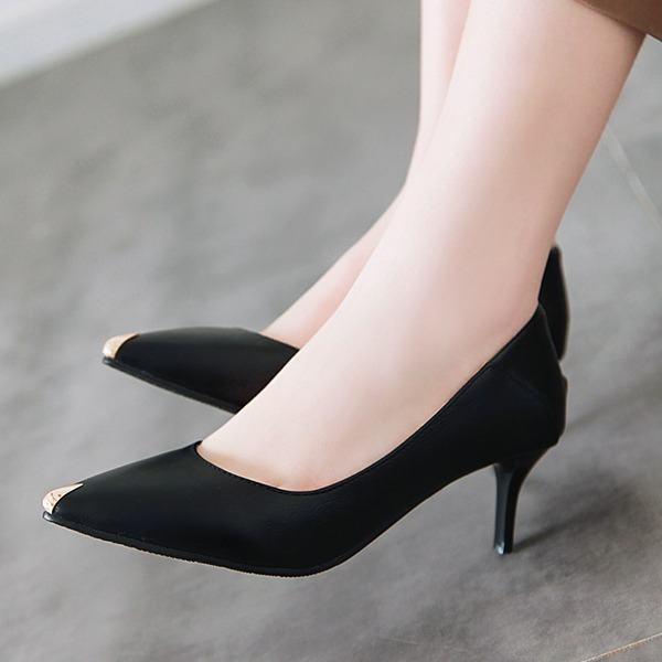 Women's Leatherette PU Stiletto Heel Pumps أحذية