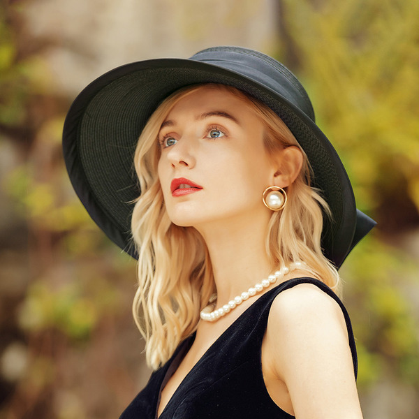 Sonar Naisten Classic/Hieno Polyesteri/Satiini Levyke hattu/Beach / Sun hatut