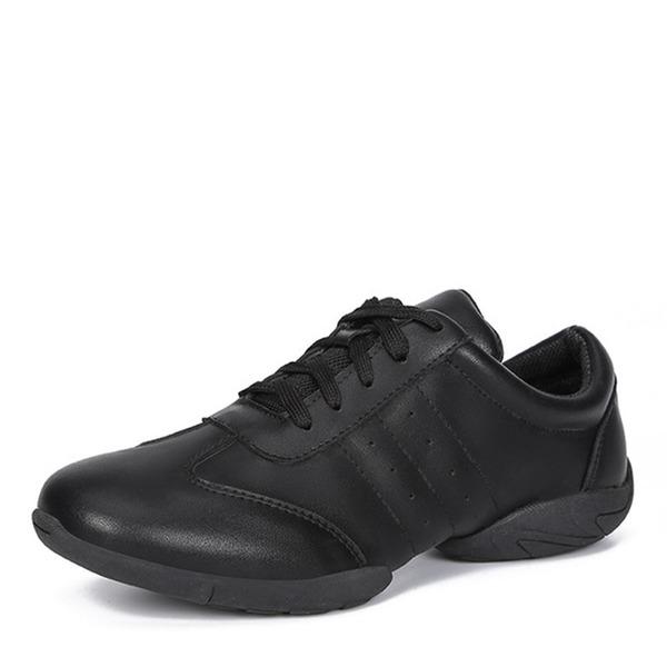 Mulheres Couro Tênnis Moderno Jazz Ténis Sapatos de dança