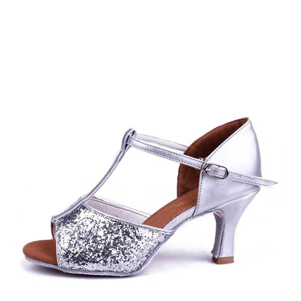 Vrouwen Sprankelende Glitter Sandalen Latijn Dansschoenen