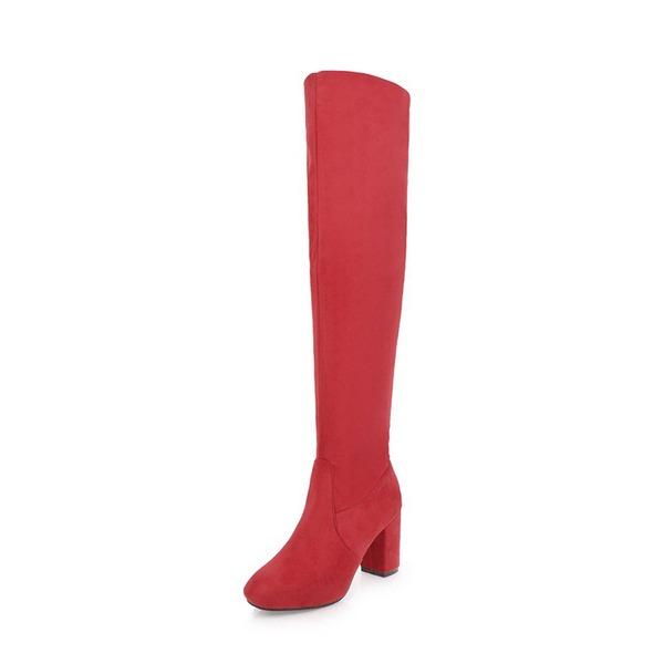 Femmes Suède Talon bottier Escarpins Bottes Bottes hautes avec Autres chaussures