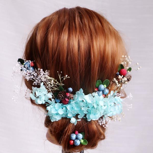 Señoras Especial Flores de seda Flores y plumas