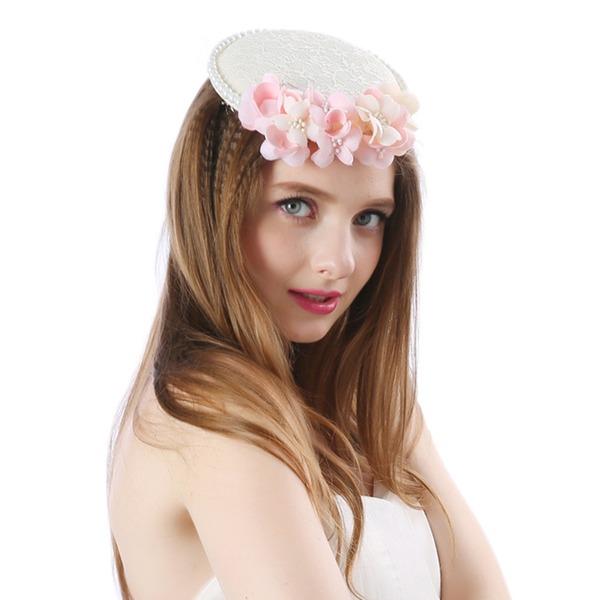 Ladies ' Smukke/Dejligt/Efterspurgte/Særlige/Glamourøse Linned med Blomst Fascinators