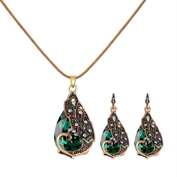 Skinner Legering Rhinestones Glass med Rhinestone Kvinner Smykker Sett (Sett med 2)