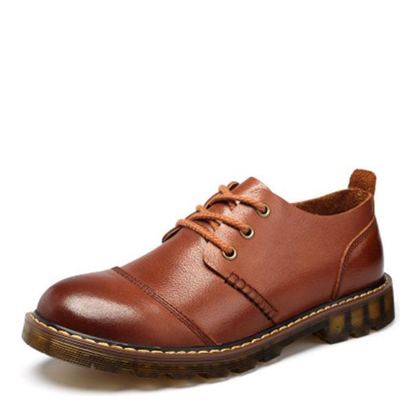 Herren Echtleder Lässige kleidung Herren-Oxford-Schuhe