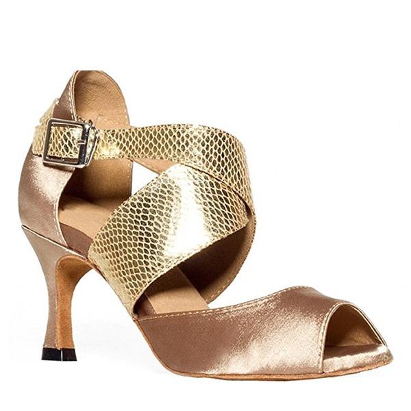Donna Raso Tacchi Latino con Allacciato Scarpe da ballo