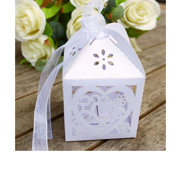 Laser Cut Box Wedding Candy Box (Set of 12)