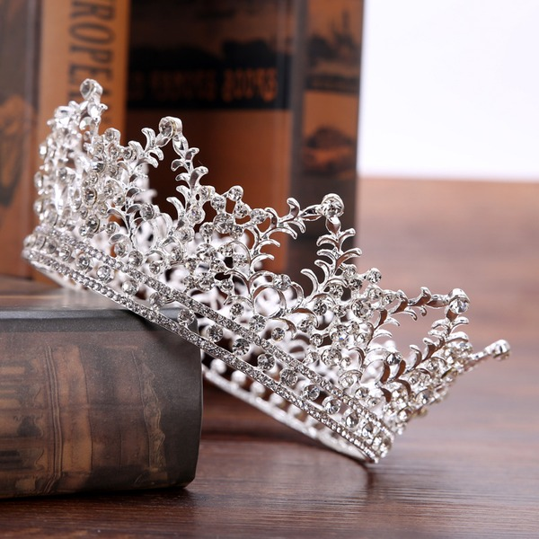 Glamourous Rhinestone/Alloy Tiaras (Sold in single piece)
