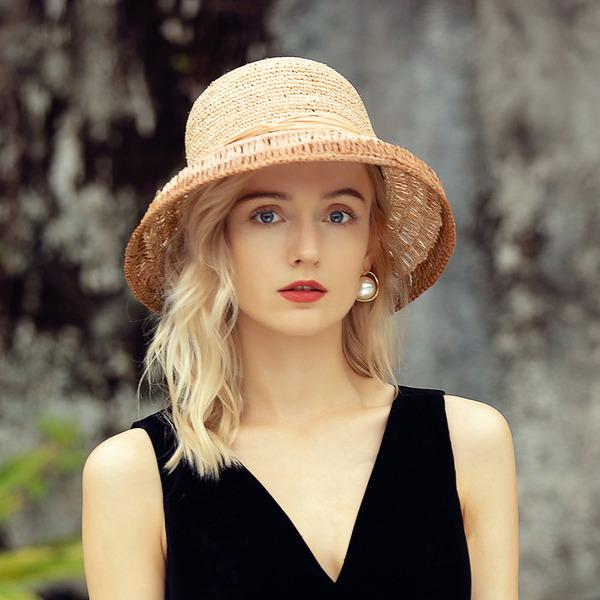Señoras' Único/Hecha a mano/Encanto Rafia paja Sombrero de paja/Sombreros Playa / Sol