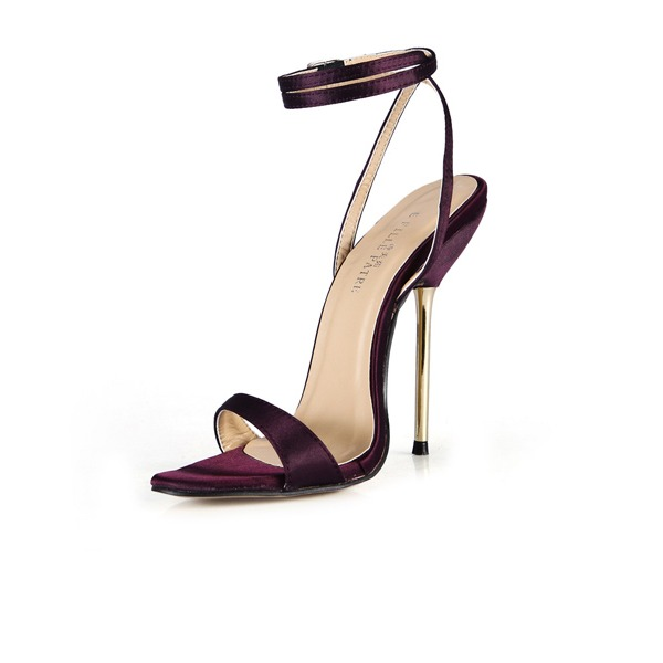 Vrouwen Satijn Stiletto Heel Sandalen Slingbacks met Gesp schoenen