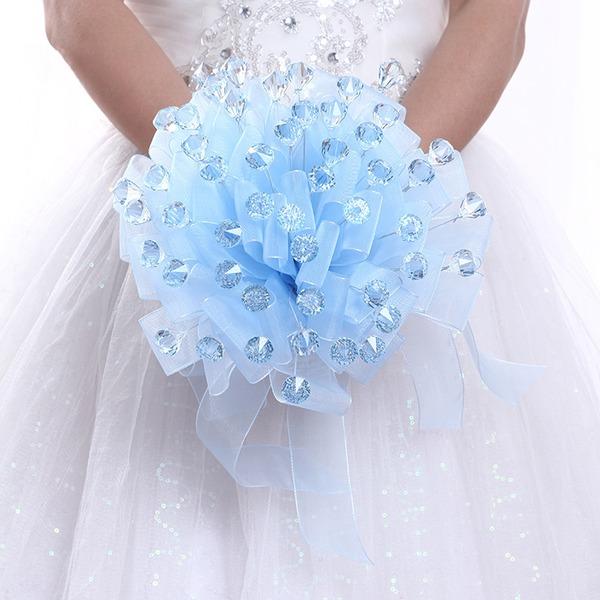 Rond Satiné/PE Bouquets de mariée (vendu en une seule pièce) -