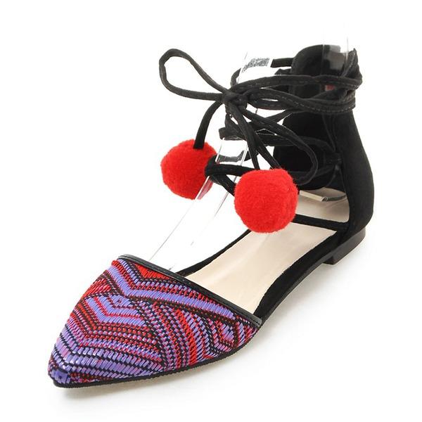 De mujer Ante Tacón plano Sandalias Planos con Cordones zapatos