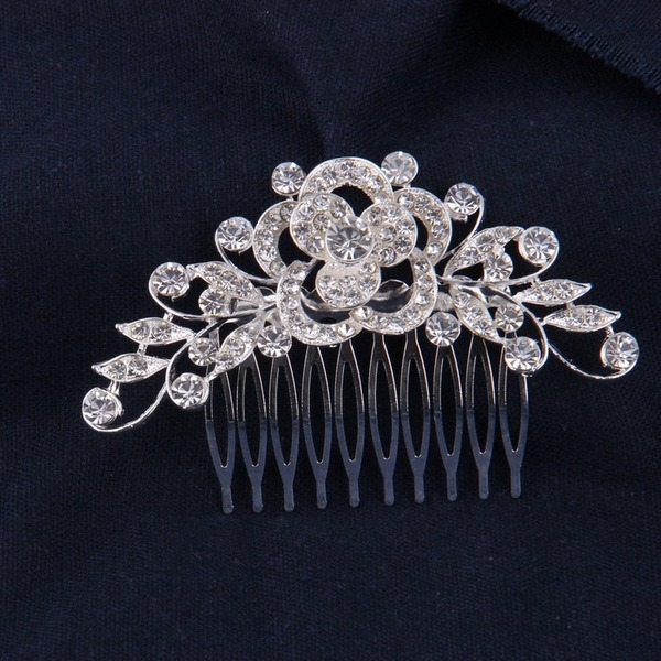 Affascinante Strass/lega Pettine & clip di capelli