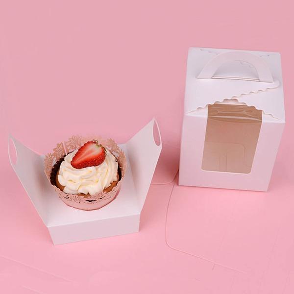 прекрасный корзины картона бумаги Фавор коробки и контейнеры/пирожня Коробки (набор из 12)