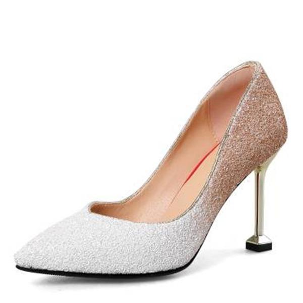Kvinnor Glittrande Glitter Cone Heel Pumps med Andra skor