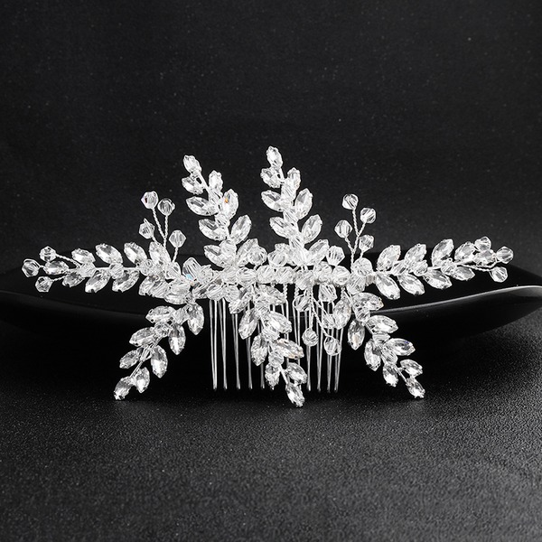 Beautiful Rhinestone/Alloy Combs & Barrettes (Sold in single piece)