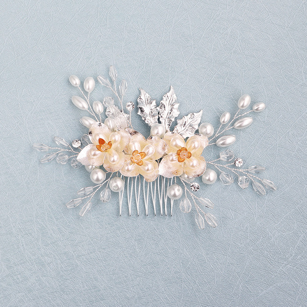 Beautiful Crystal/Rhinestone/Imitation Pearls Combs & Barrettes With Venetian Pearl (Sold in single piece)