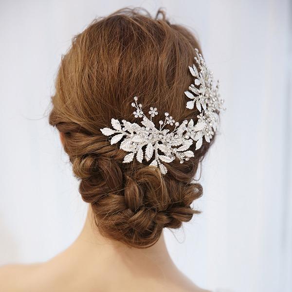 Damen Elegant Legierung Kämme und Haarspangen mit Strass (In Einem Stück Verkauft)