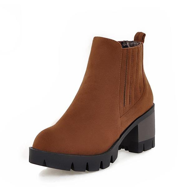 Kvinner Semsket Stor Hæl Pumps Støvler Ankelstøvler sko