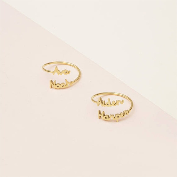 Personalizado Senhoras Chic 925 prata esterlina Nome Anéis Ela/Amigos/Noiva/Dama de honra/Menina das flores
