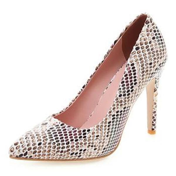 Kvinnor Microfiber läder Stilettklack Pumps med Andra skor
