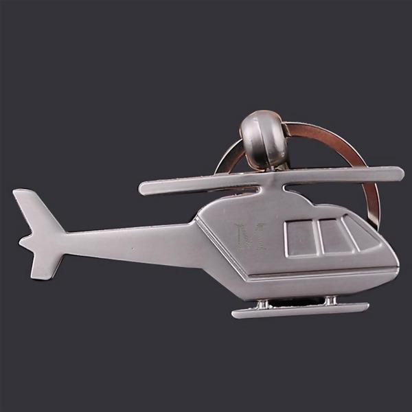 Personaliseret Helikopteri muotoinen Zinklegeret Nøgleringe