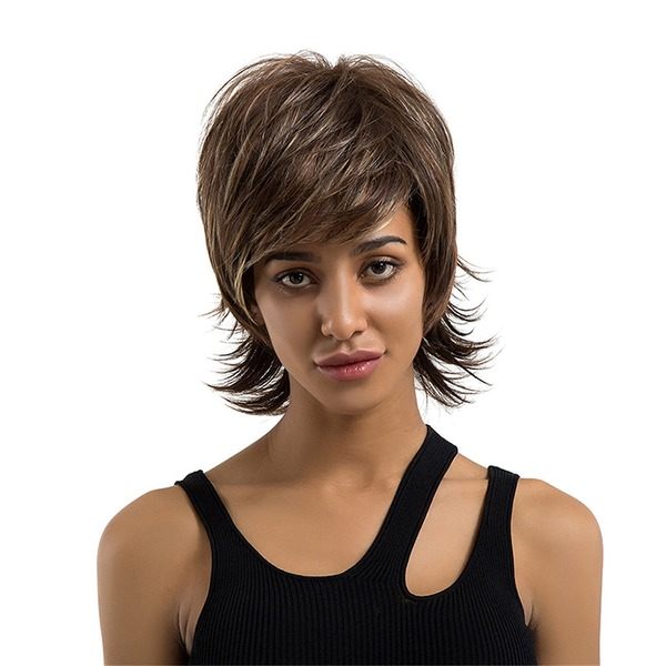 Rett Menneskehår Human Hair Parykker