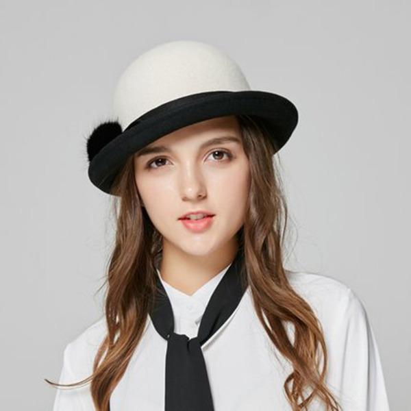 Signore Elegante Lana Cappello da bucato