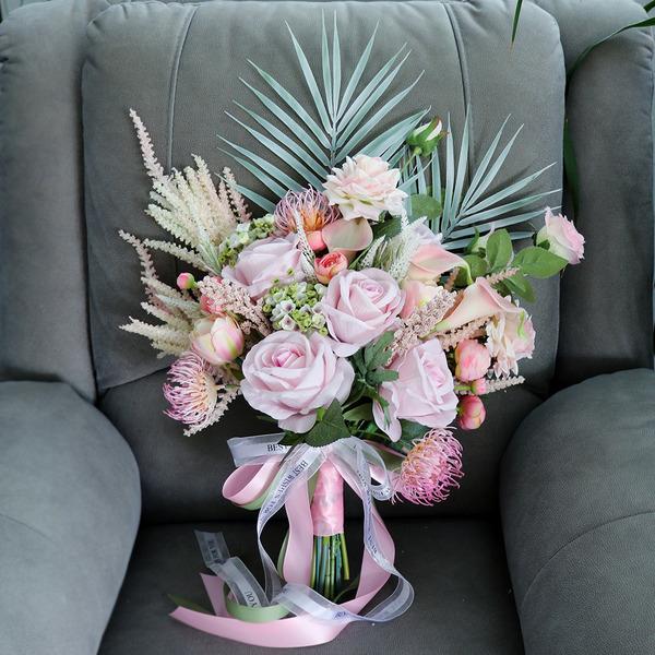 Pretty Forma libre Flores de seda Ramos de novia - Ramos de novia