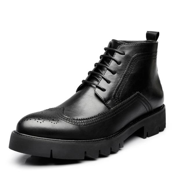 Pánské Mikrovlákno Kůže Chukka Casual Pánská obuv Boots