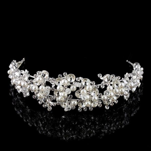 Gorgeous Rhinsten/Legering/Imiteret Pearl Tiaraer med Rhinsten/Venetiansk Perle (Sælges i et enkelt stykke)